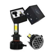 Kit Lâmpada Super LED H9 6000K 12V e 24V 36W 3700LM Efeito Xênon