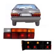 Lanterna Traseira Gol G1 Quadrado 1987 a 1994 Tricolor com Pisca Âmbar (Lado Esquerdo)