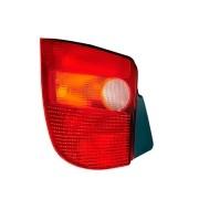 Lanterna Traseira Palio Young  1996 à 2000 - Carcaça Preta Tricolor | Lado Esquerdo