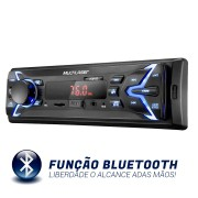 Som Automotivo Multilaser Popbt Com Bluetooth Usb, Sd E Rádio Fm