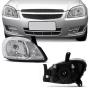 Farol Direito Chevrolet Celta 2006 a 2015 Prisma 2007 a 2012 Cromado Foco Simples com Pisca Integrado arteb original