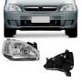 Farol Manual Direito Corsa Hatch Sedan 2003 a 2012 Montana 2003 a 2010 Cromado Foco Duplo Orgus
