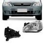 Farol Manual Esquerdo Corsa Hatch Sedan 2003 a 2012 Montana 2003 a 2010 Cromado Foco Duplo Orgus
