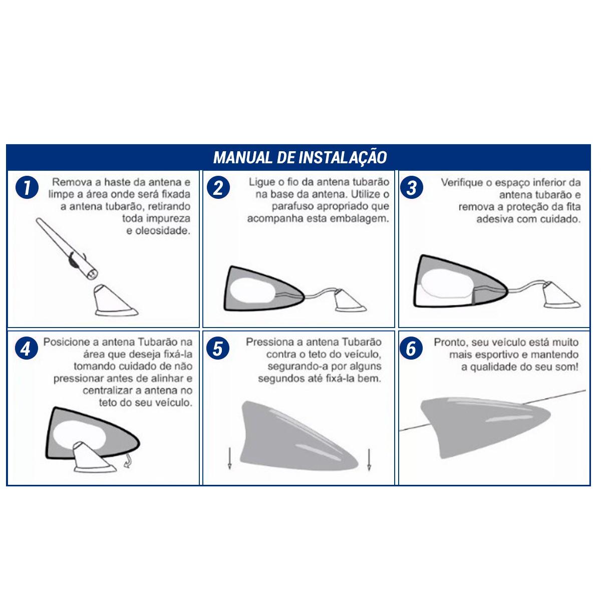 Antena Externa - Shark (Prata)