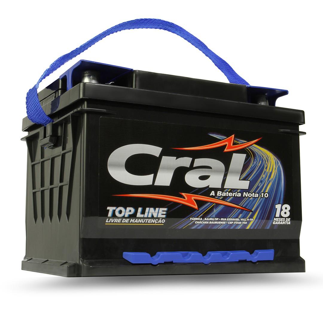 Bateria Automotiva Cral 60a Positivo Direito