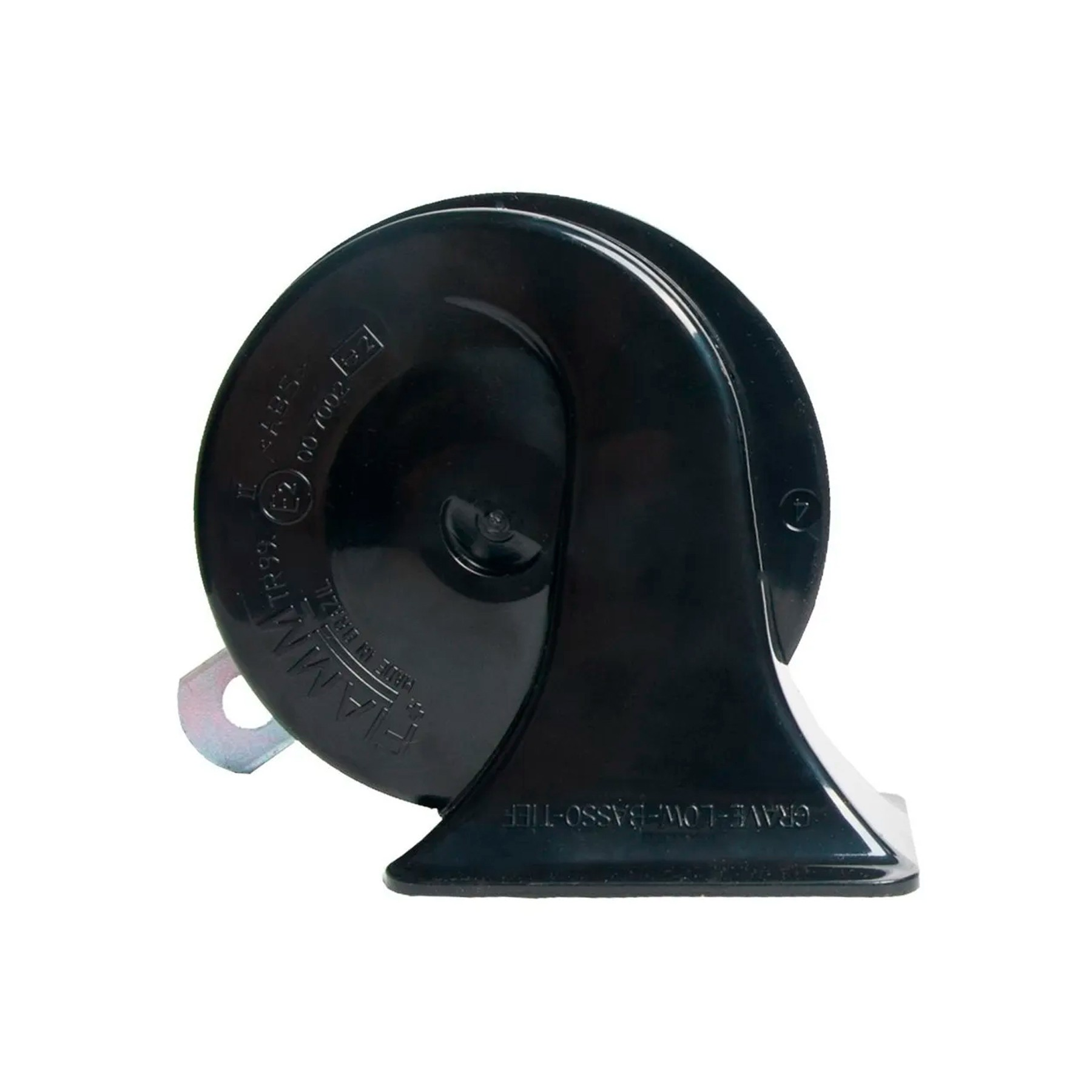 Buzina Fiamm Caracol Aguda 12v Com Conector Kbc9hc