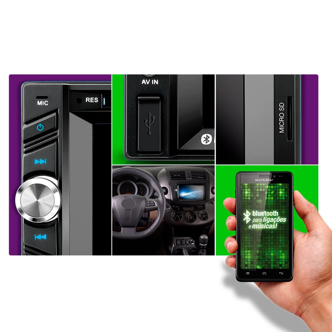 """Central Multimídia 6,2"""" Touchscreen com GPS integrado 50W RMS x 4 canais"""