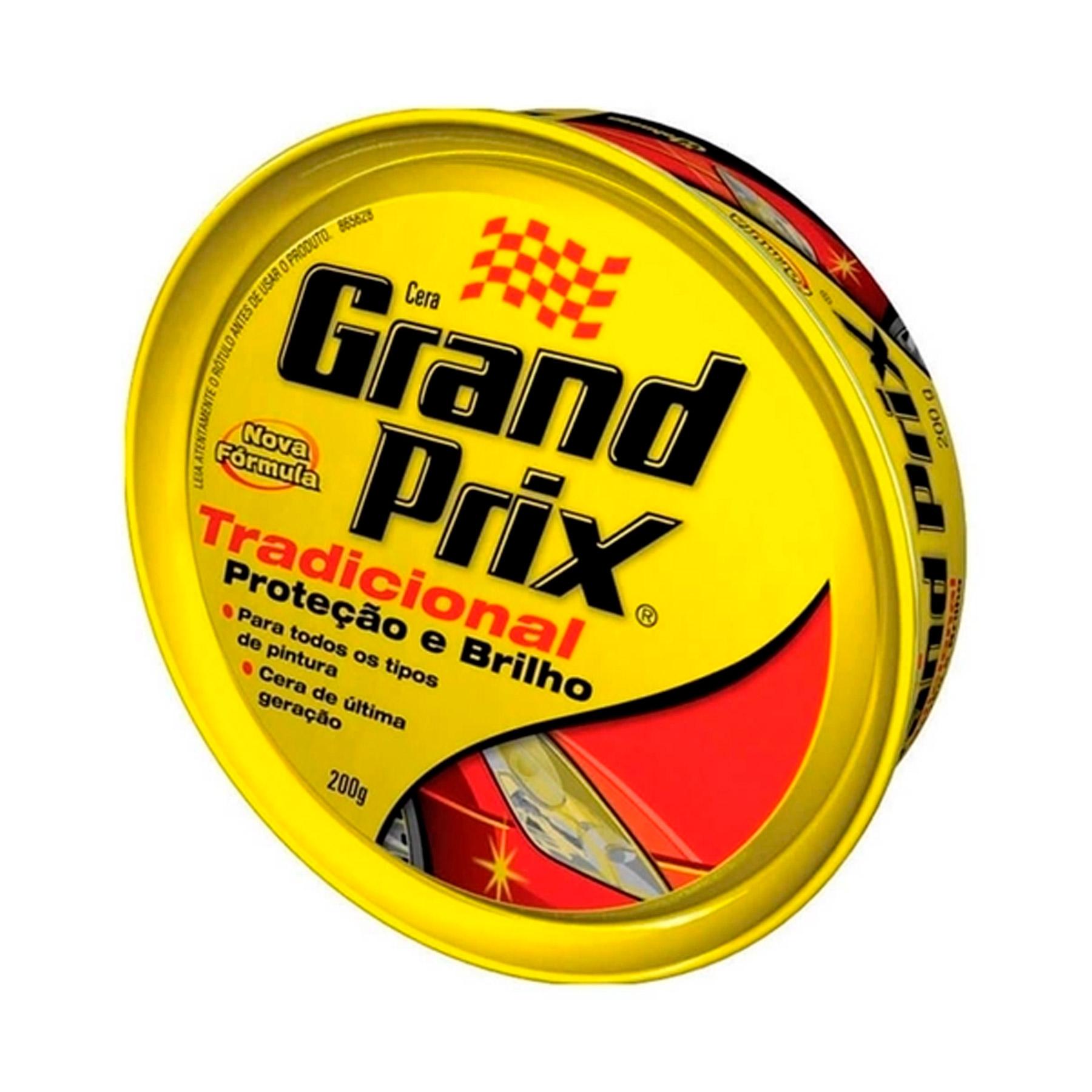 Cera em Pasta Grand Prix Tradicional Proteção e Brilho 200g