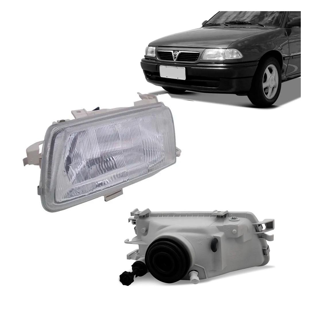 Farol Astra 1993 a 1997 Foco Simples Cromado Lado Esquerdo.