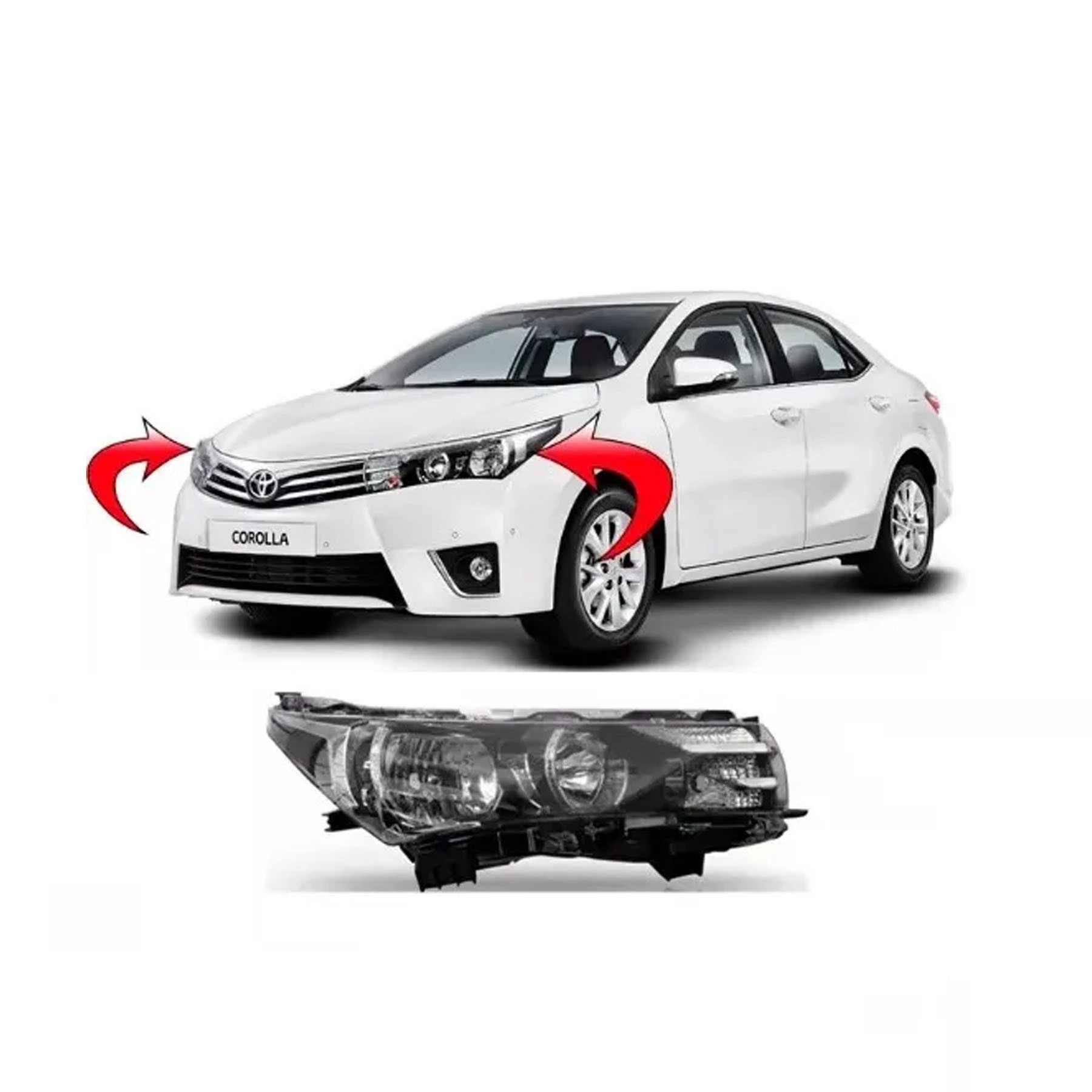 Farol Corolla 2014 A 2018  Lado Esquerdo