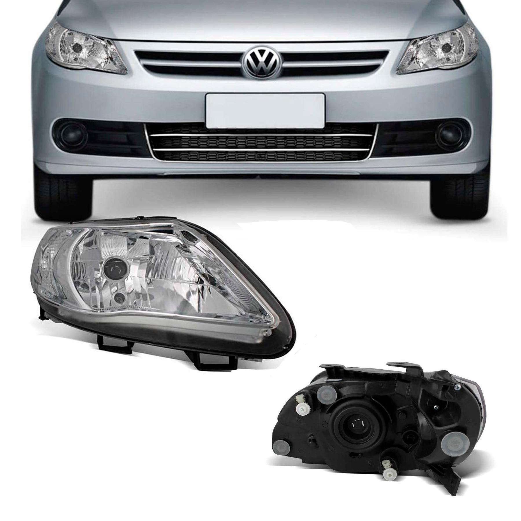 Farol Direito Volkswagen Gol Voyage G5 2009 a 2012 Saveiro G5 2009 a 2013 Foco Simples