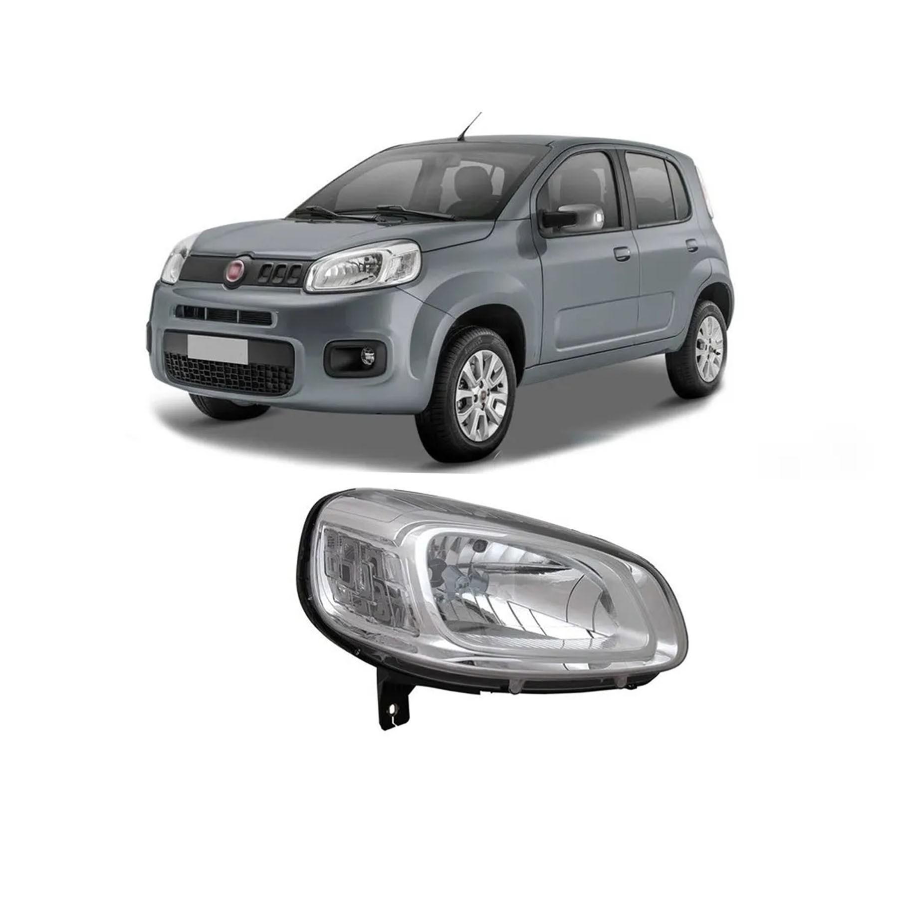 Farol Fiat Uno Fiorino 2015 a 2019 Cromado Lado Direito