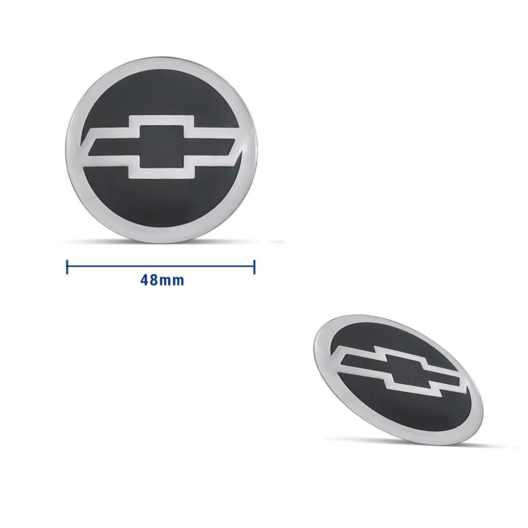 Jogo de Emblemas Resinados 48mm GM Chevrolet Para Calotas Rodas