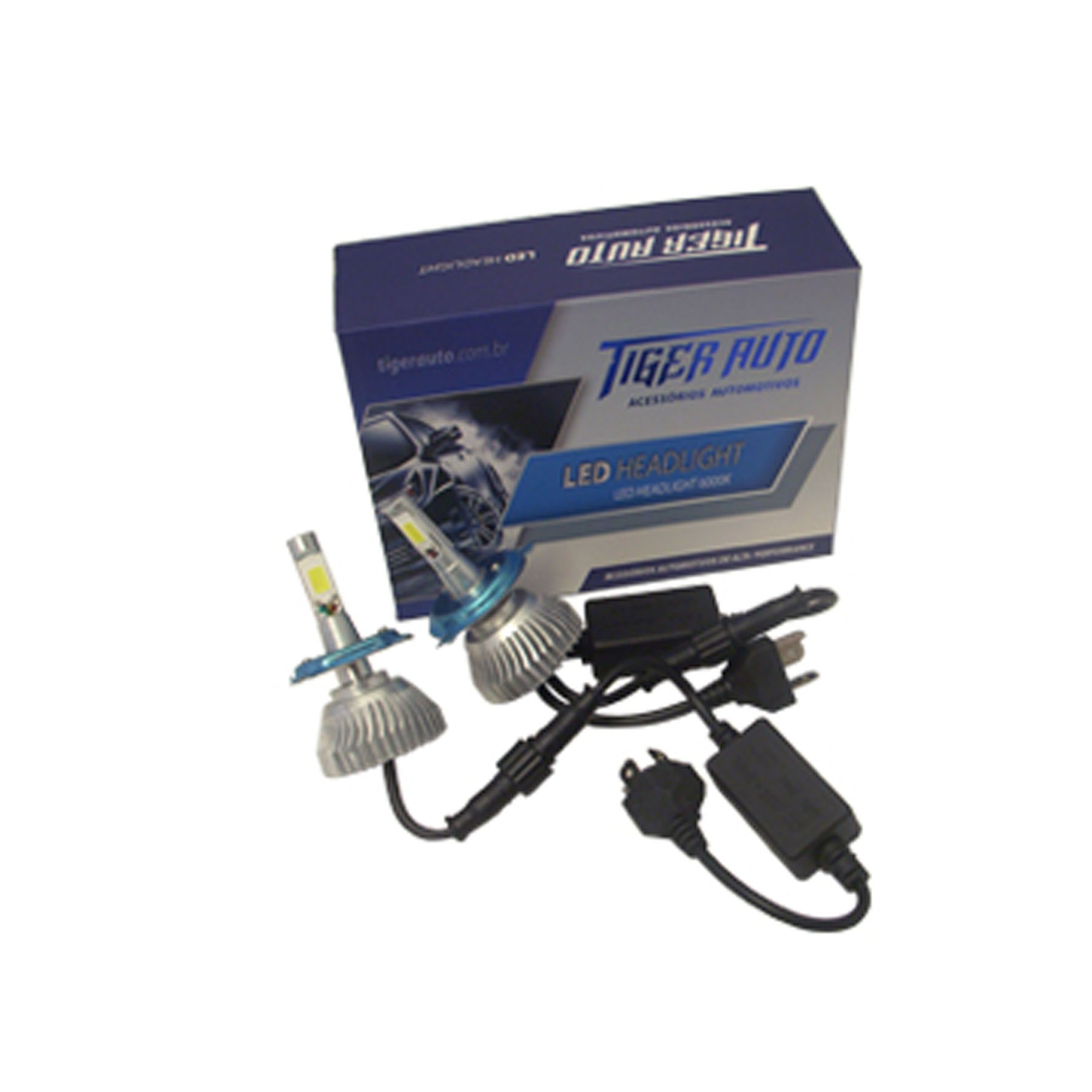 Kit Lâmpada Super Led H4 2d Reator 6000k 12/24v