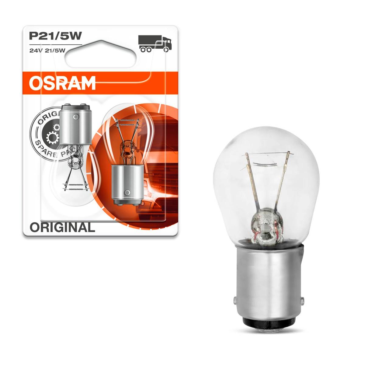 Lâmpada Osram Halógena P21/5 Standard 3200k 12v 21/5w Luz De Freio Lanterna