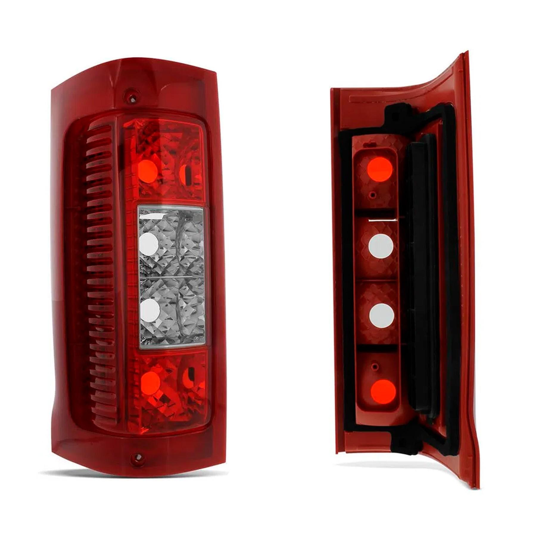 Lanterna Traseira Ducato Boxer Jumper Lado Direito 2003 a 2014 Bicolor Pisca Cristal