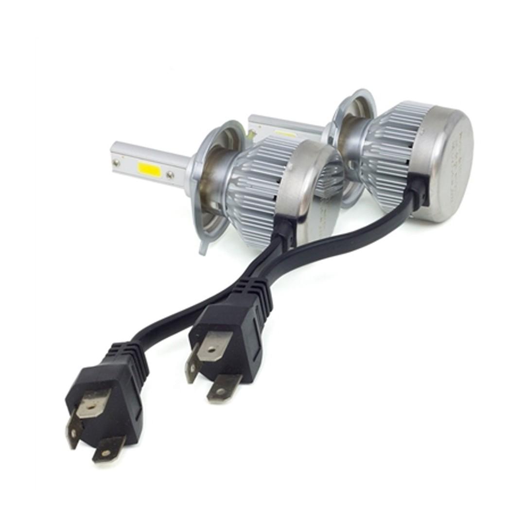 Kit de Lâmpadas LED 6200K - 2000 lúmens   Modelo H4