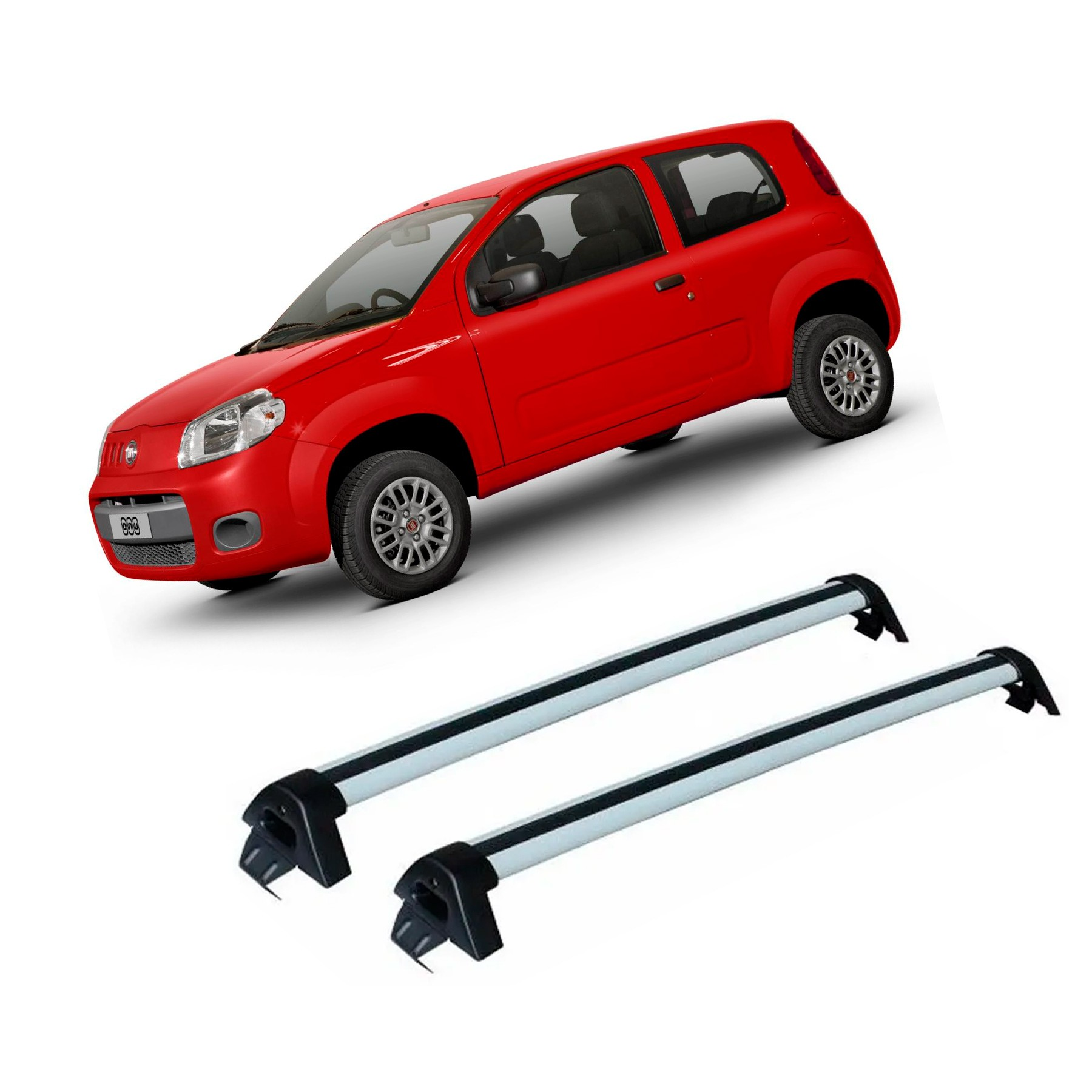 Rack de Teto Travessa Fiat Uno 4 Portas 2010 a 2019 Projecar Carga 45Kg