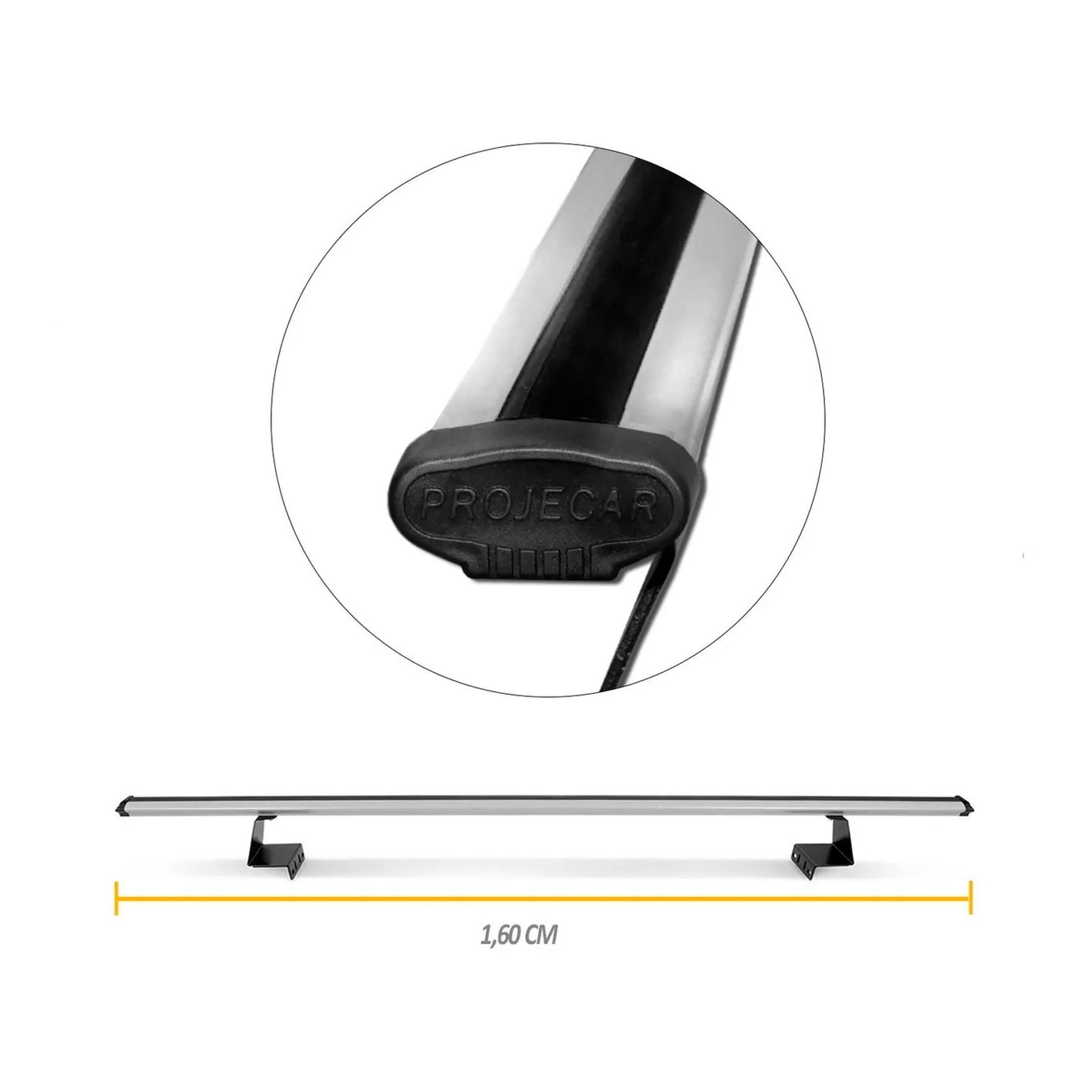Rack Para Caçamba 1,60m Universal Aluminio Prata Anodizado Projecar