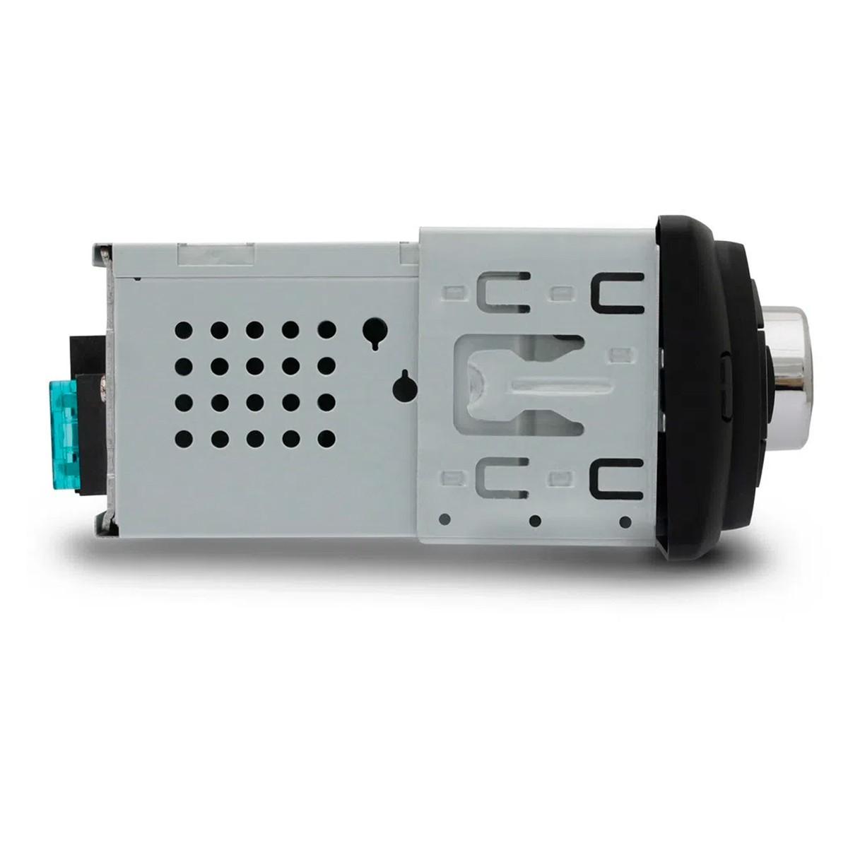 Rádio Automotivo Multilaser New One Mp3 Player 1 Din Led Usb Sd Aux Fm + Pen Drive 8gb