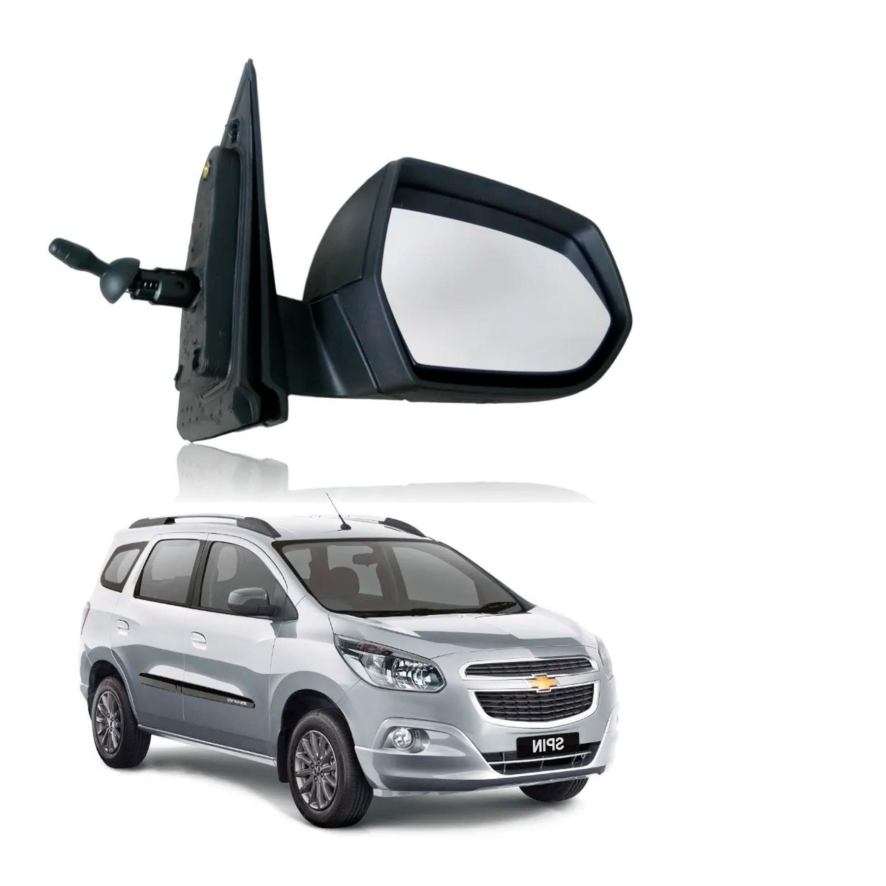 Retrovisor Chevrolet Spin 2012 em diante Controle Interno (ESQUERDO - Motorista)