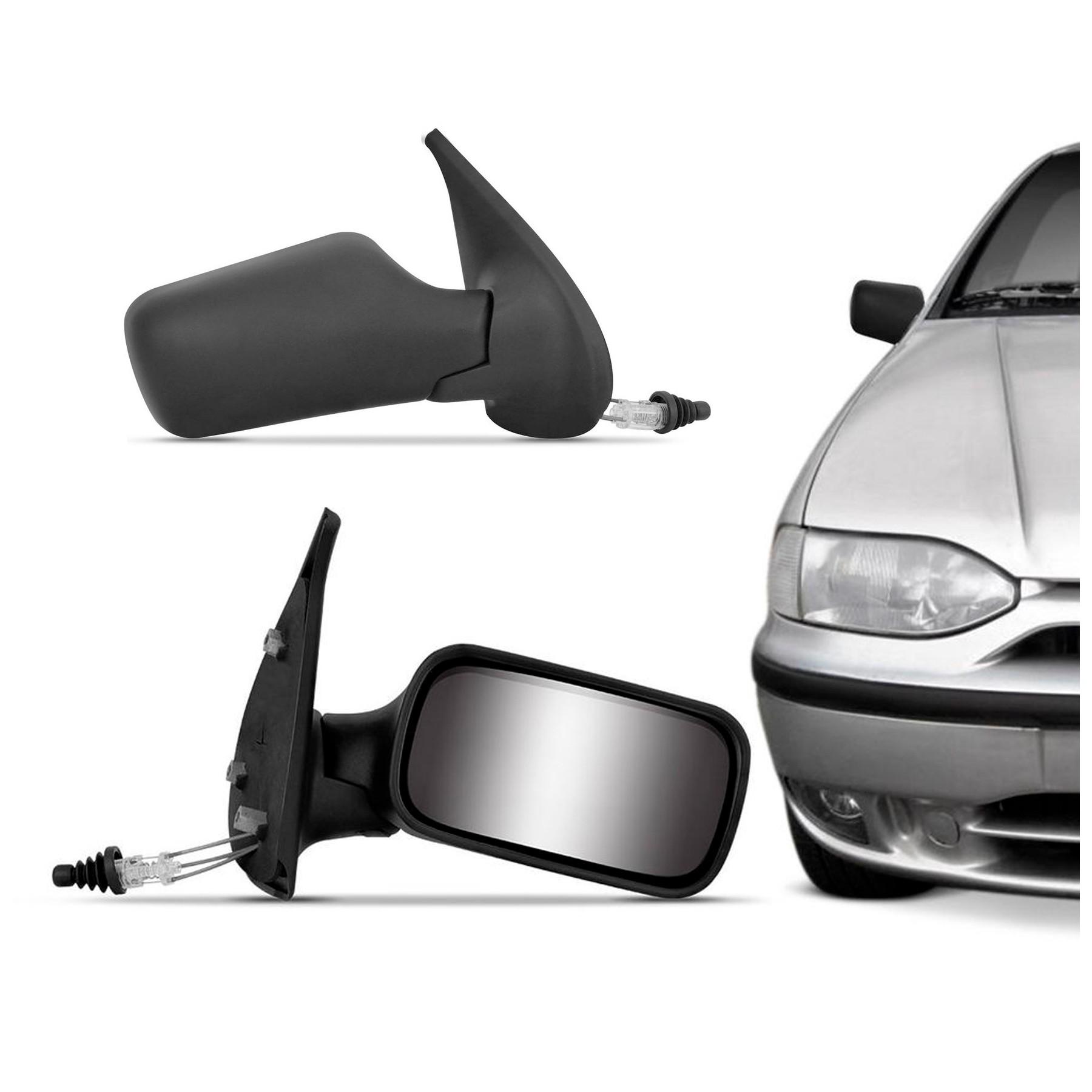 Retrovisor Manual Palio Strada 1996 a 2000 2 Portas Com Espelho e Controle Interno