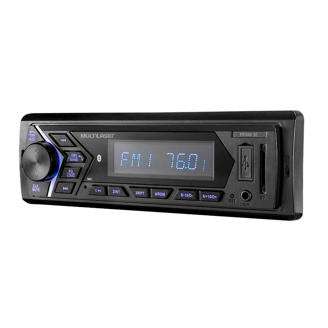Som Automotivo com Bluetooth, USB, Auxiliar e Cartão SD