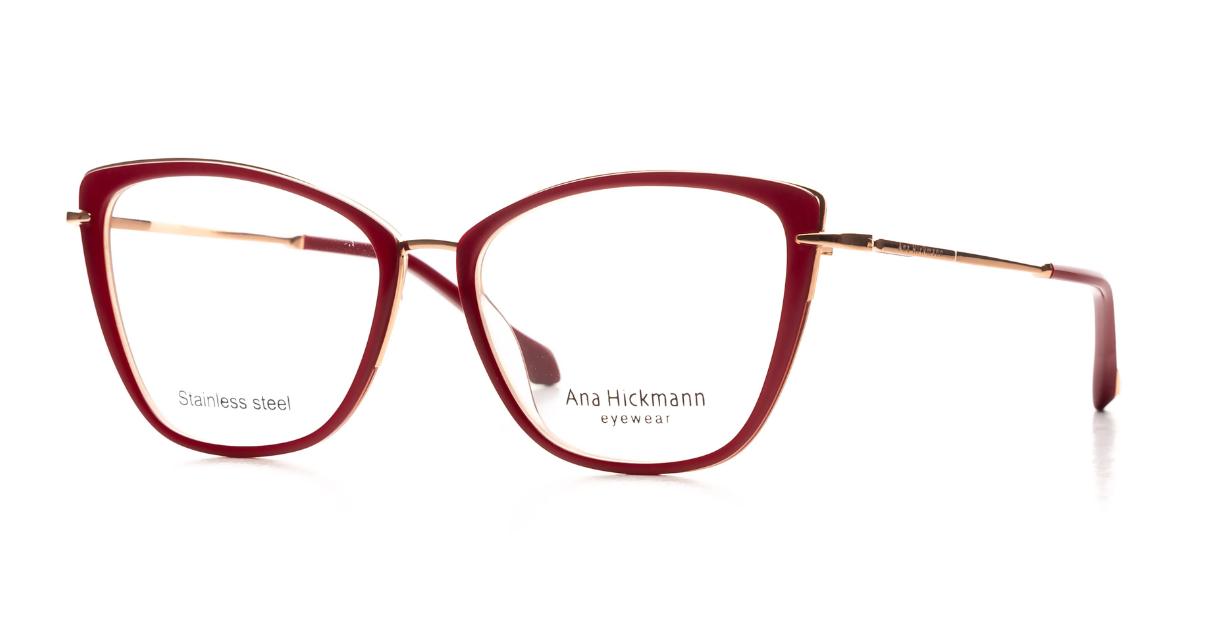 Óculos de Grau Ana Hickmann Bordô/Dourado AH1423 - H01/55.5