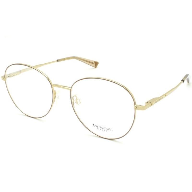 Óculos de Grau Ana Hickmann Dourado AH1383 - 01A/53
