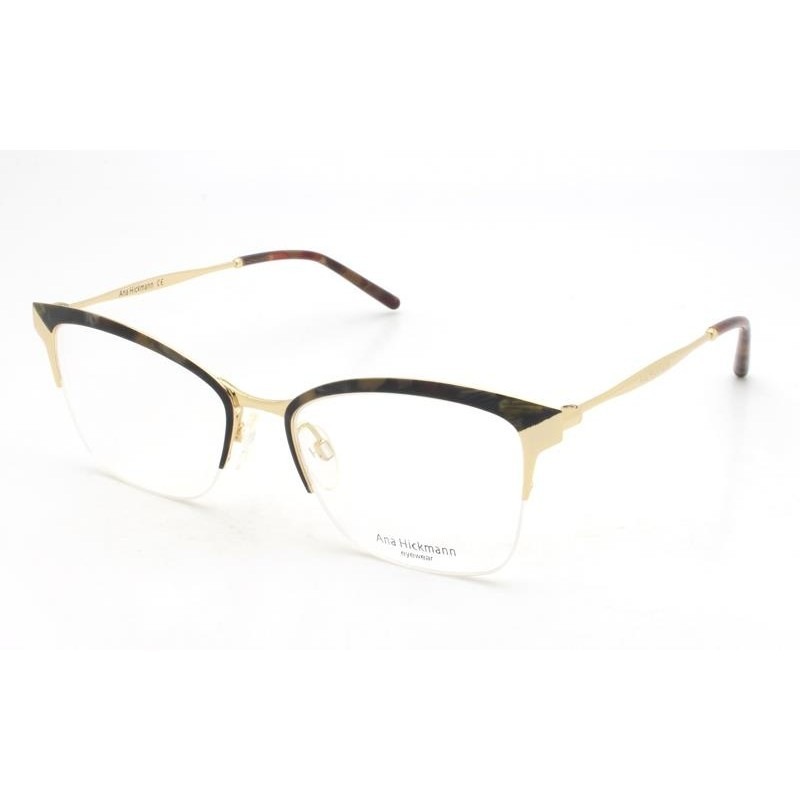 Óculos de Grau Ana Hickmann Dourado/Havana AH1353 - 04C/52