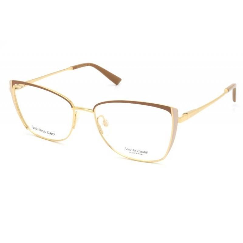 Óculos de Grau Ana Hickmann Nude/Dourado AH1400 - 01A/55
