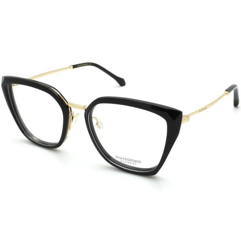 Óculos de Grau Ana Hickmann Preto AH6378 - A01/53.5
