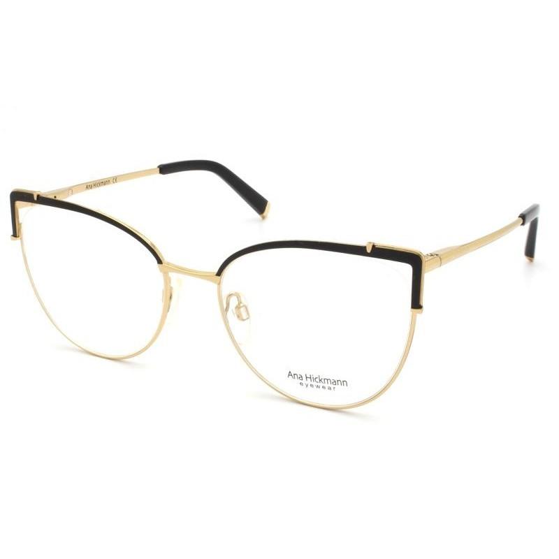 Óculos de Grau Ana Hickmann Preto/Dourado AH1386 - 09A/54