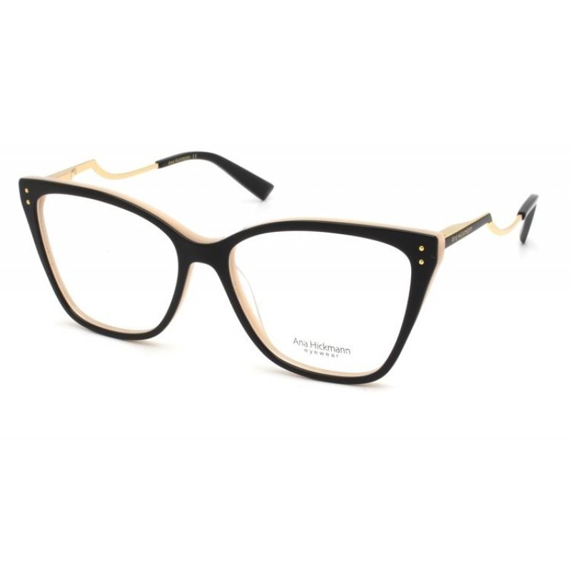 Óculos de Grau Ana Hickmann Preto/Rosa AH6402 - A01/54