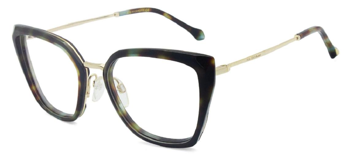 Óculos de Grau Ana Hickmann Tartaruga AH6378 - G22/53.5