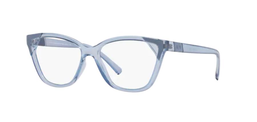 Óculos de Grau Armani Exchange Azul Translúcido AX3059 - 8286/54