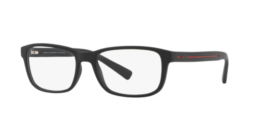 Óculos de Grau Armani Exchange Preto Fosco AX3021L - 8078/54