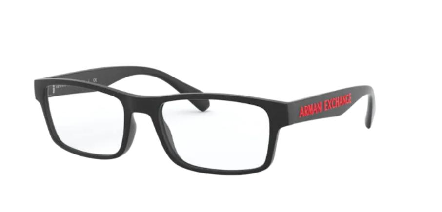 Óculos de Grau Armani Exchange Preto Fosco AX3070 - 8078/55
