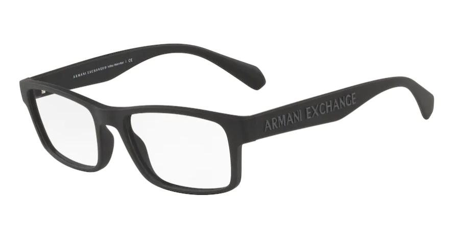 Óculos de Grau Armani Exchange Preto Fosco AX3070 - 8324/55