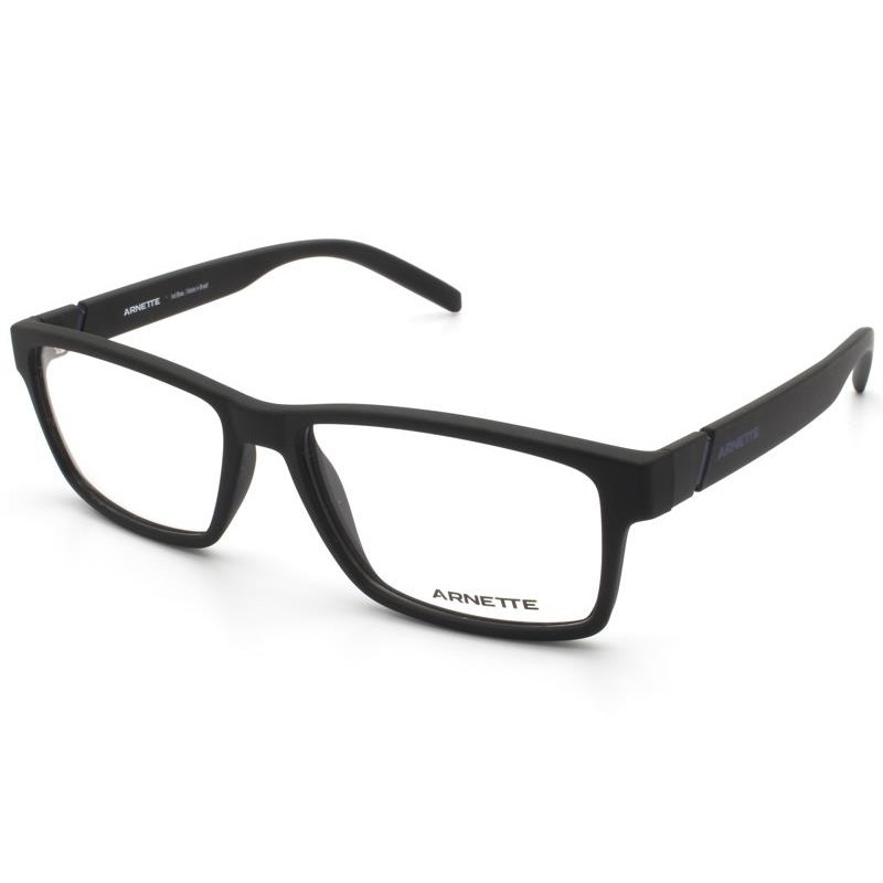 Óculos de Grau Arnette Leonardo Preto Fosco AN7179L - 01/56