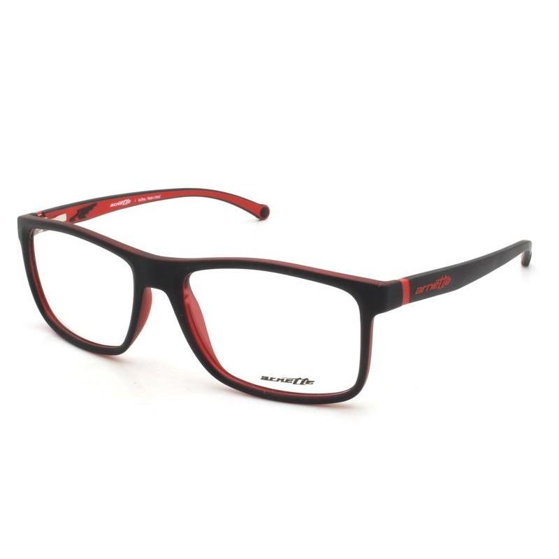 Óculos de Grau Arnette Preto/Vermelho AN7113L - 2294/54