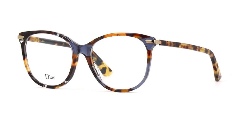 Óculos de Grau Dior Azul Havana DIORESSENCE11 - JBW/53