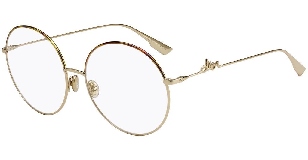 Óculos de Grau Dior Dourado/Havana DIORSIGNATUREO2 - 06J/60