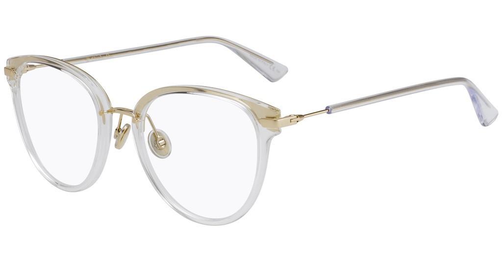 Óculos de Grau Dior Dourado/Transparente DIORLINE2 - 900/52