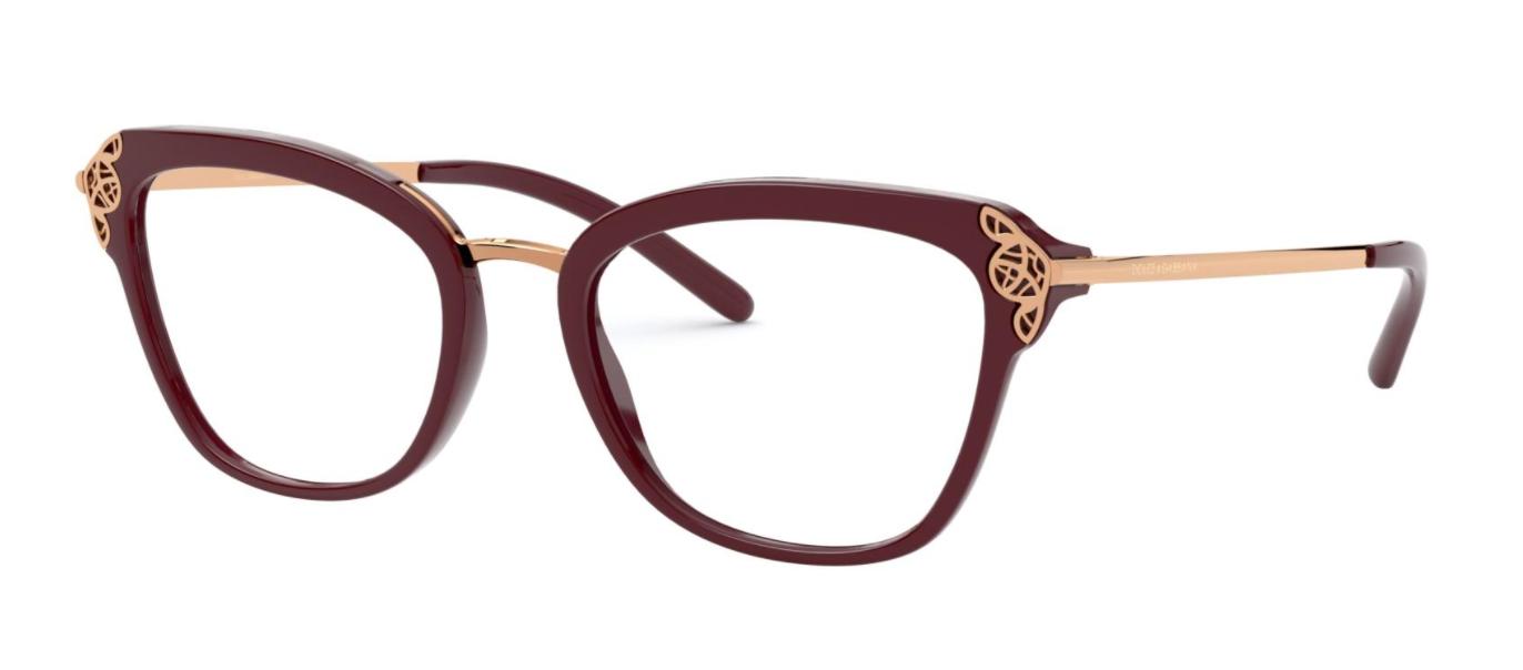 Óculos de Grau Dolce & Gabbana Bordô DG5052 - 3091/52
