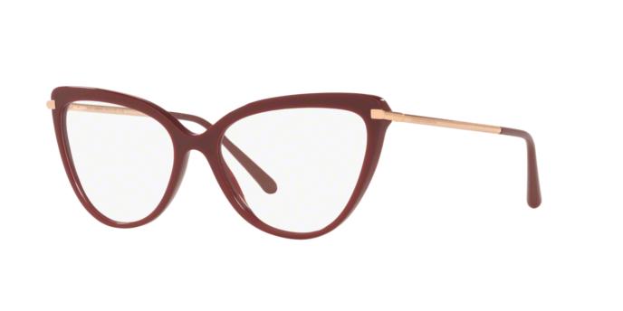 Óculos de Grau Dolce & Gabbana Bordô/Dourado DG3295 - 3091/55