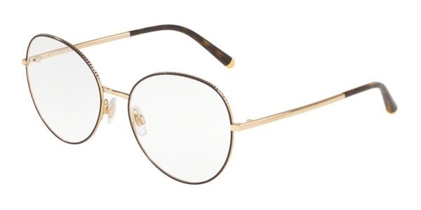 Óculos de Grau Dolce & Gabbana Marrom/Dourado DG1313 - 1320/56