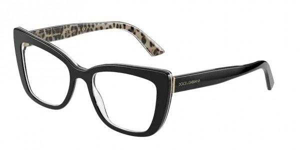 Óculos de Grau Dolce & Gabbana Preto/Leopardo DG3308 - 3299/51