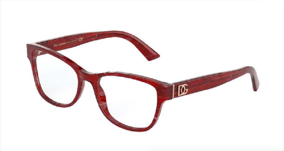 Óculos de Grau Dolce & Gabbana Bordô DG3326 - 3252/54