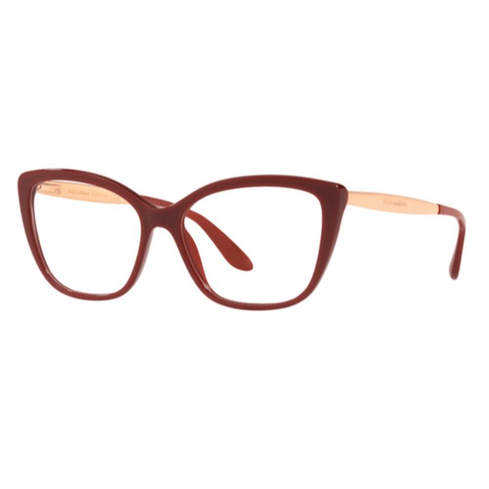 Óculos de Grau Dolce & Gabbana Bordô/Dourado DG3280 - 3091/54